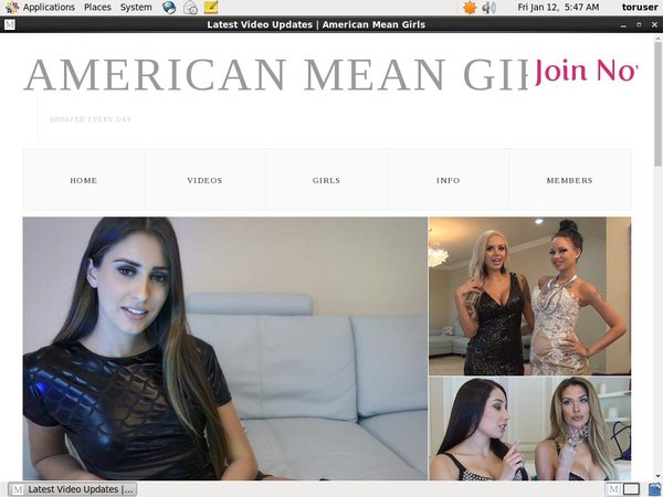 American Mean Girls Signup Page