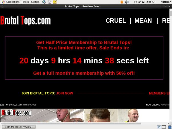 Free Brutal Tops Account New