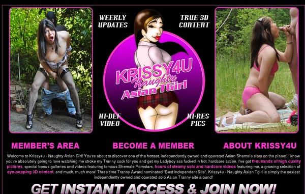 Krissy 4 U Member Login