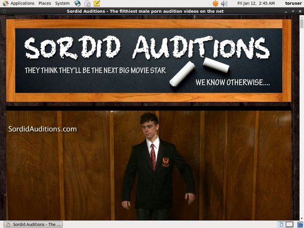Sordid Auditions Network Login