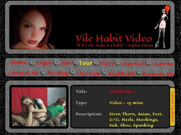 Vile Habit - Sophia Sylvans Bank