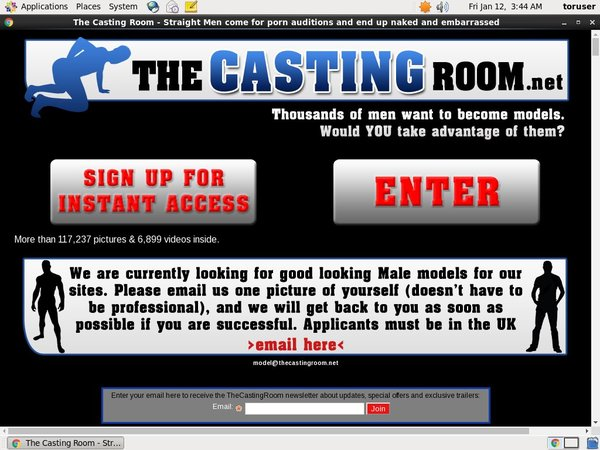 The Casting Room Paypal Sign Up
