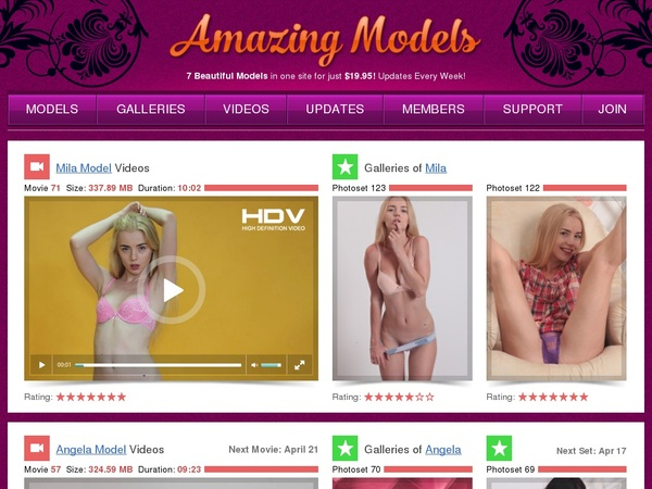 Amazingmodels Website Accounts