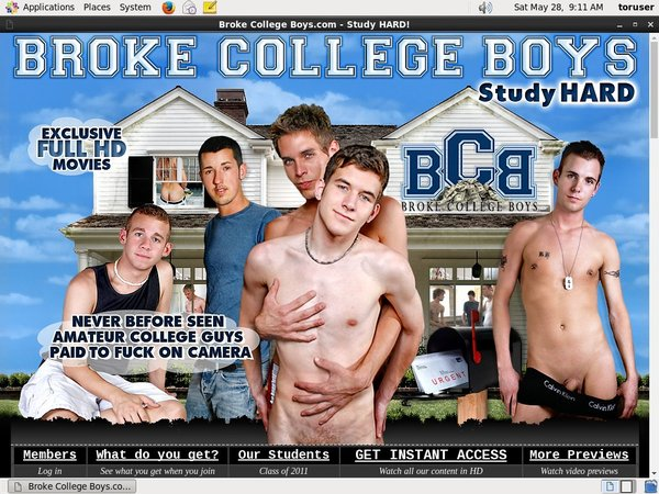 Brokecollegeboys.com Signup Page